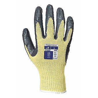 Portwest - Cut 3 beständig Nitril Grip Handschuh ein paar Pack