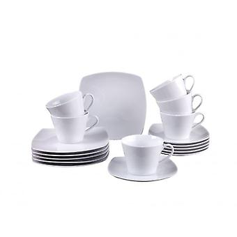 Villeroy & Boch Simply Fresh 18pc Coffee Set White Porcelain