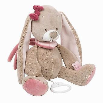 Nattou Nina, Jade & Jill- Musical Nina The Rabbit Soft Toy