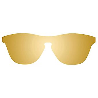 Sunpers San Francisco Flat PC Sunglasses - Gold/Brown