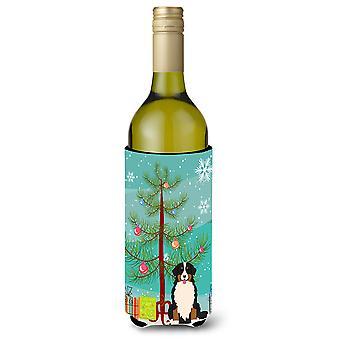 メリー クリスマス ツリーはバーニーズ ・ マウンテン ・ ドッグ ワインボトル カートカン容器絶縁体フェイスハガー