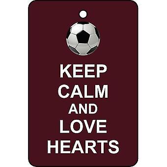 Keep Calm And Love Hearts Car Air Freshener
