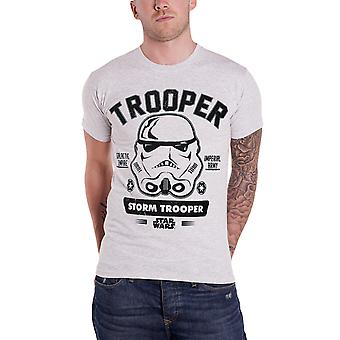 Star Wars T Shirt Stormtrooper Collegiate Logo Official Mens New Heather Grey