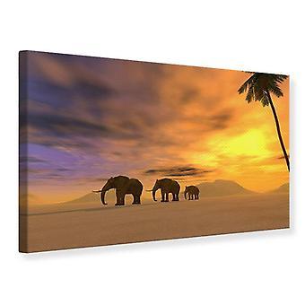 Canvas Print Desert Elephants