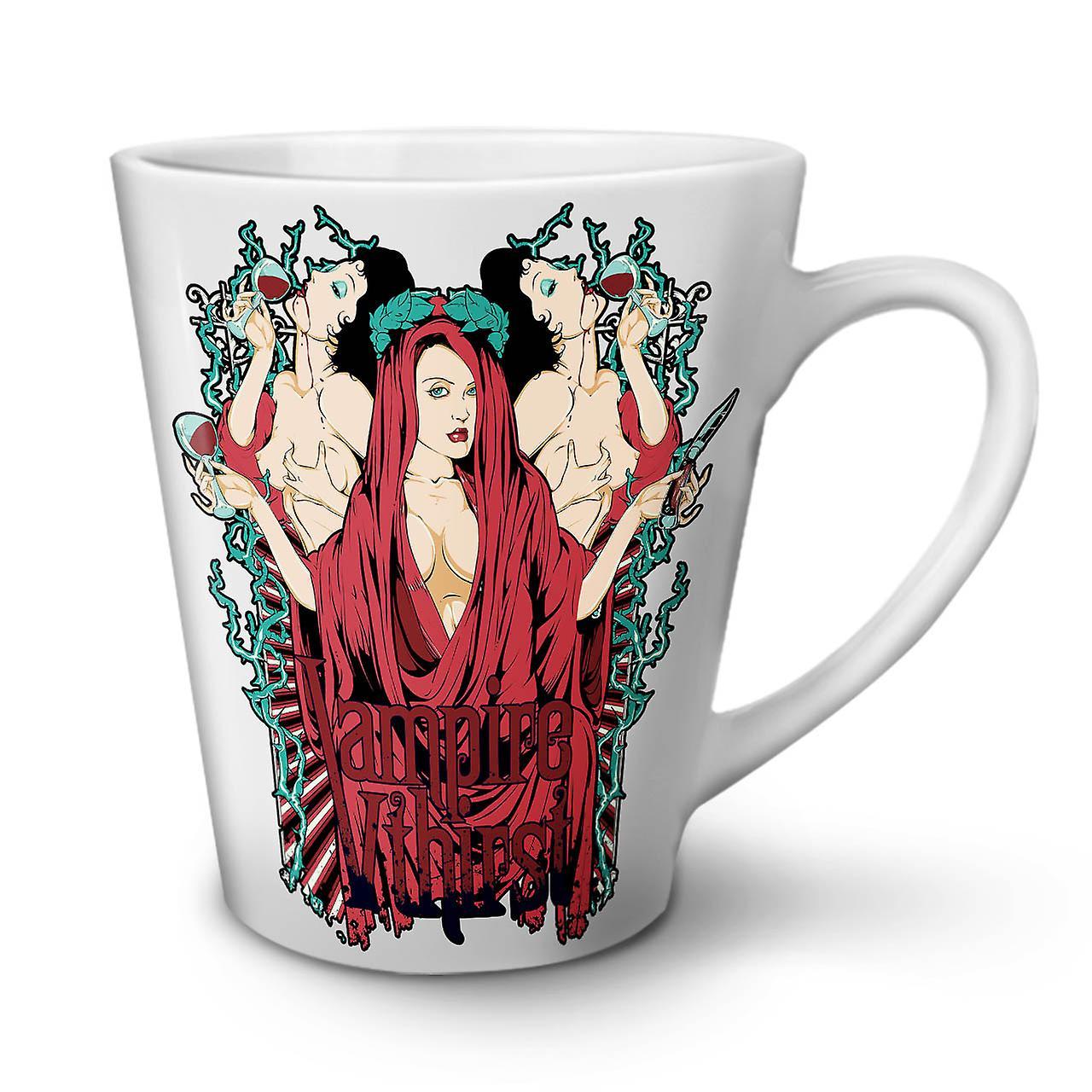 12 Chaude Soif Thé Nouveau Latte Sexy En Tasse La OzWellcoda Blanc Café Céramique Vampire yIYf76vgb