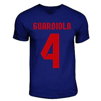 PEP Guardiola Barcelona helten T-shirt (marinen)