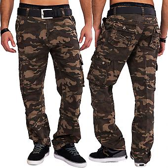 Mens of cargo jeans camouflage of cargo pants work trousers camouflage cotton