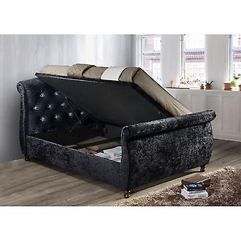 Birlea Toulouse Super King Size Ottoman Bed In Black