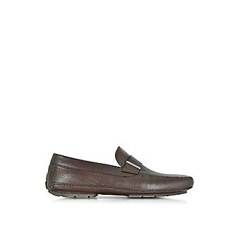 Moreschi men's 41426SHMIAMIDKBROWN brown leather moccasins