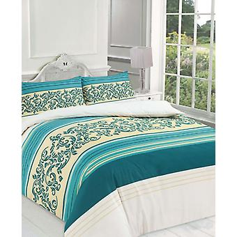 Camilla Floral Lace Stripes Print Duvet Cover Polycotton Printed Bedding Set