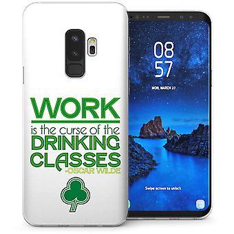 Samsung Galaxy S9 Plus Oscar Wilde Drink Quote TPU Gel Case – Green