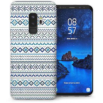 Samsung Galaxy S9 Plus Fairisle Jumper TPU Gel Case – wit