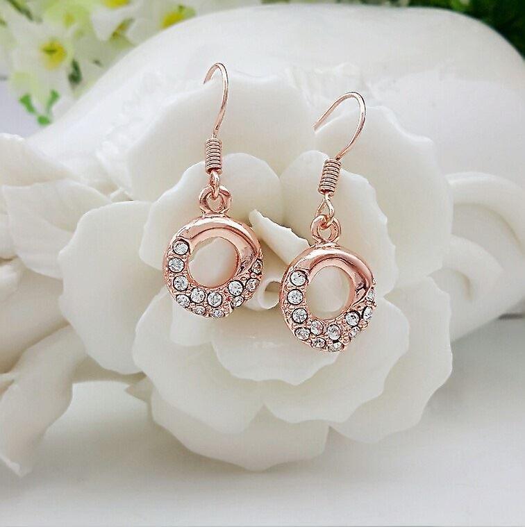 Womens Rose guld Dingla Örhängen smycken med kristall stenar Mix och matcha  smycken 833152c0ed0b9