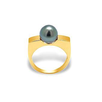 Ring Tahitian Pearl and yellow gold 375/1000