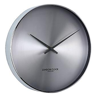 28cm Element CR Spun Chrome Modern Metal Wall Clock