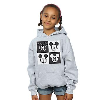 Disney Girls Mickey Mouse Smiling Squares Hoodie