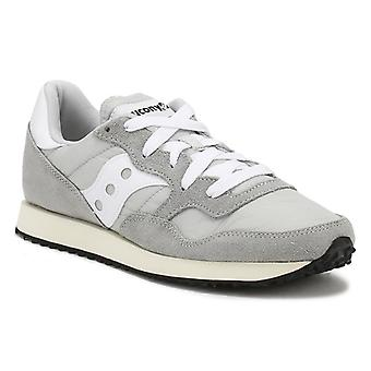 Saucony Grey / White DXN Vintage Trainers