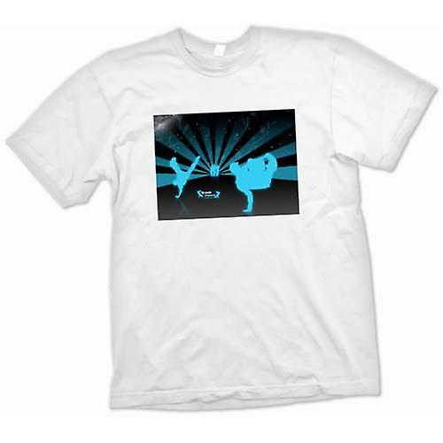 Mens T-Shirts - Break Dance Street Blue - Design