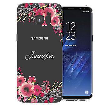 Samsung Galaxy S8 klart Floral personlig TPU bærevesken