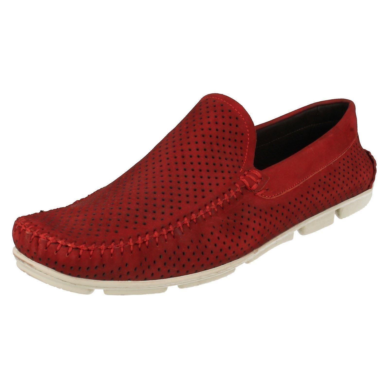 Men's Anatomic & Co Casual Slip On Coari 363655 Red Nubuck Size UK 10/44