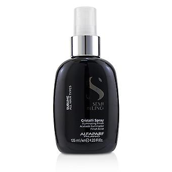 AlfaParf Semi Di Lino Sublime Cristalli Spray 125ml/4.23 oz (tous Types de cheveux)