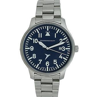 Aristo Messerschmitt mens pilot watch ME BLAUE42GB stainless steel