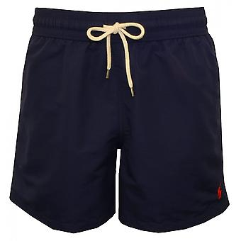 Polo Ralph Lauren Traveller Swim Shorts, Newport Navy W/red