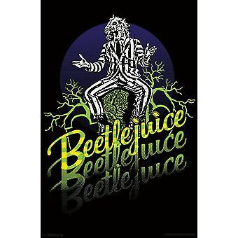 Beetlejuice - Neon Poster Print