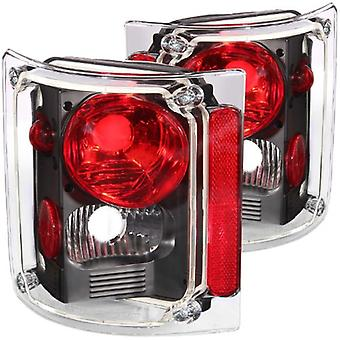 Anzo USA 211016 Chevrolet Pickup Black Tail Light Assembly - (Sold in Pairs)