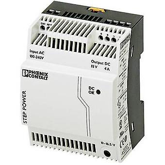 Phoenix Contact STEP-PS/1AC/15DC/4 Rail mounted PSU (DIN) 15 Vdc 4 A 60 W 1 x