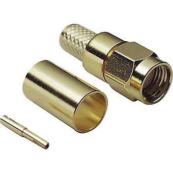 SMA reverse polarity connector Plug, straight 50 Ω BKL Electronic 0419002 1 pc(s)