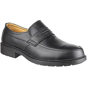 Amblers Safety Mens FS46 Mocc Toe S1P SRC Slip On Shoes