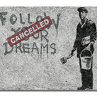 Banksy Follow Your Dreams (Cancelled) Drinks Mat / Coaster