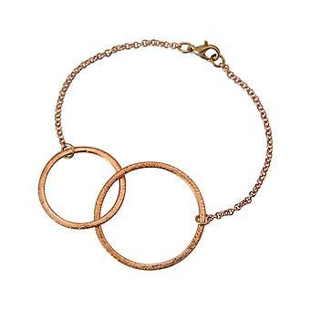 Gemshine - Damen - Armband - Eternity Kreise - Infinity - Minimalistisch - Geometrisch - Design - Rose