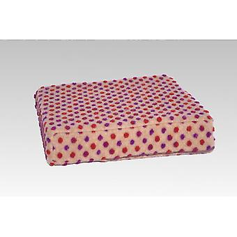 Booster seat cushion stand-up help beige-coloured of 40 x 40 x 10 cm