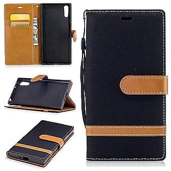 Funda para Sony Xperia XZs jeans celular protector Funda negro