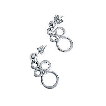 Cm øredobber kvinners øredobber - øredobber - 925 sølv - sirkel ringer 2