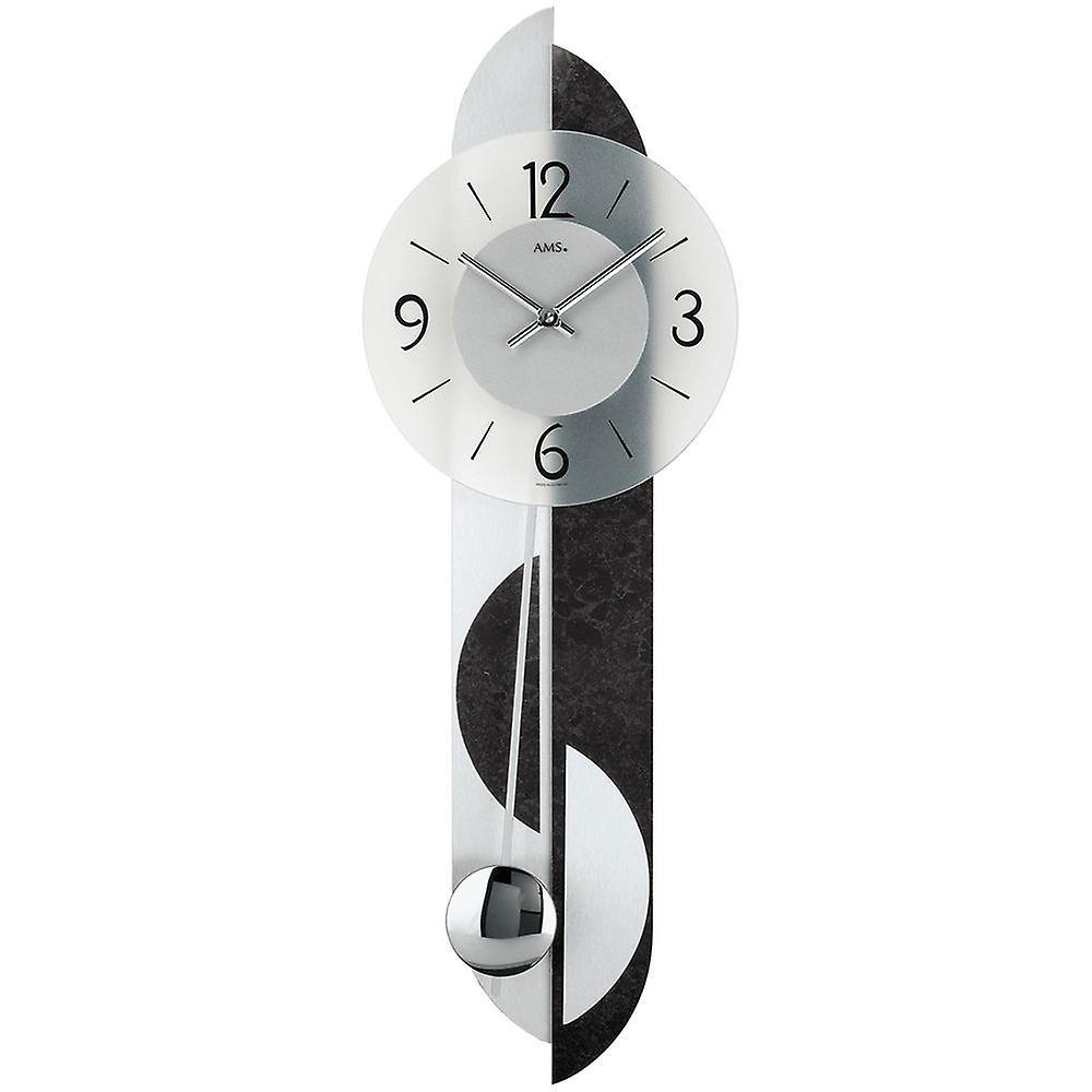 Quartz horloge murale avec retour ardoise application aluminium quartz murale pendule