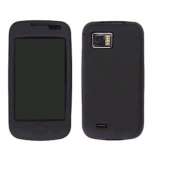 Wireless Solutions Silicone Gel Case for Omnia 2 SCH-I920 - Black
