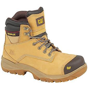 أعمال السلامة الوحيد المطاط المقاوم للماء سبيرو رجالي كاتربيلر أحذية براون