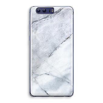 Honor 9 Transparant Case (Soft) - Marble white
