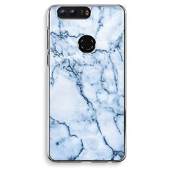 Honor 8 Transparent Case (Soft) - Blue marble