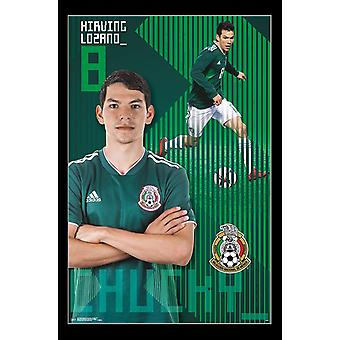 Mexico National Soccer Team - Chucky Lozano Poster Print