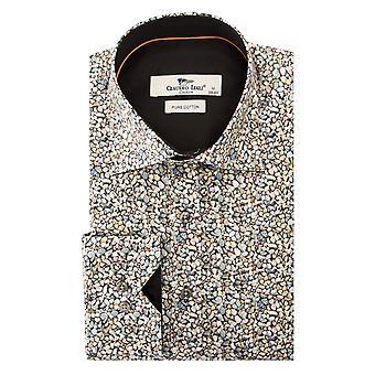 Claudio Lugli Pebble Print Mens Shirt
