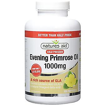 Natures Aid Evening Primrose Oil 1000mg (Cold Pressed), 180 Capsules (Better Than 1/2 Price!)