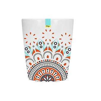 Red Patterned Melamine Abstract Summer - Tumbler 70 x 84mm Camping Kitchen
