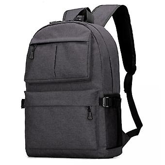 Прочный большой рюкзак с USB порт черный