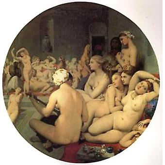 حمام تركي, جان أوغست دومينيك إنجرس، 50x50cm