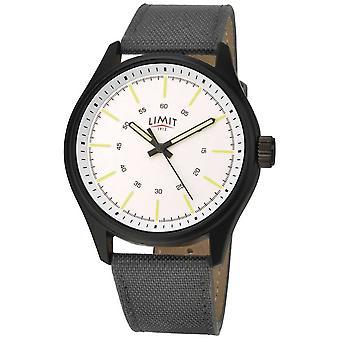 Limit | Mens | Black Nylon Strap | White Dial | 5949.01 Watch