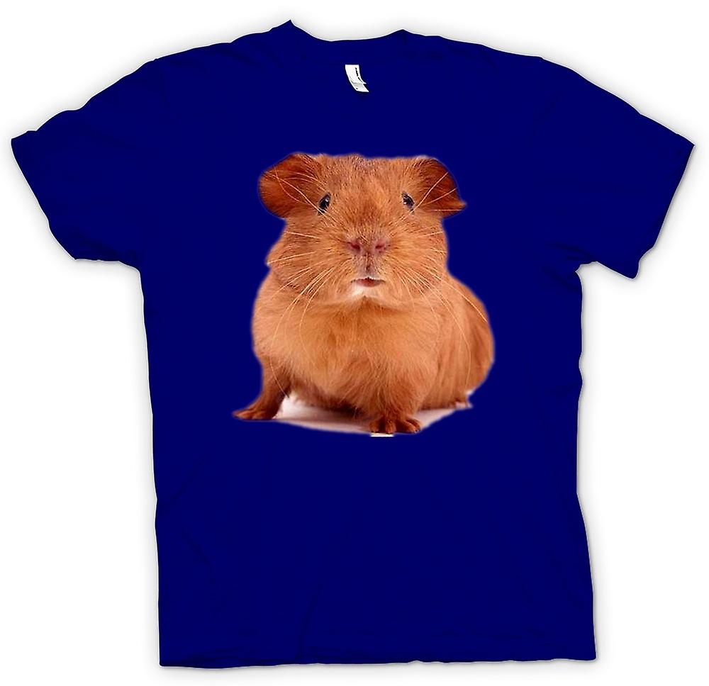 Mens T-shirt - Guinea Pig Brown - Cute Pet
